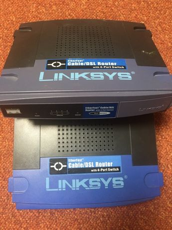 2xRouter 4 porty Swit, Linksys BEFSR41 10/100 Mbps EtherFast Cable/DSL