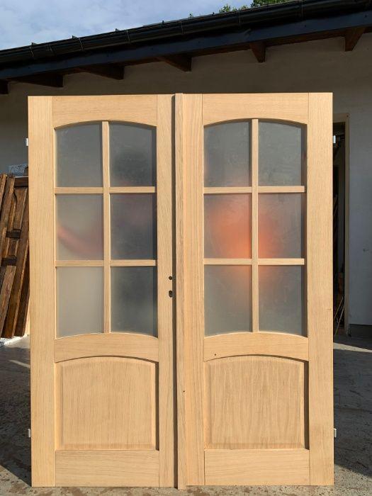 Drzwi dwuskrzydłowe wewnętrzne dębowe OD RĘKI Grzybno - image 1