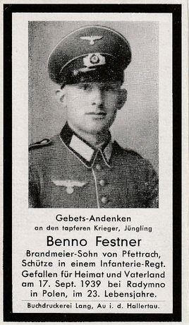 Wehrmacht 1939 nekrolog sterbebild Radymno