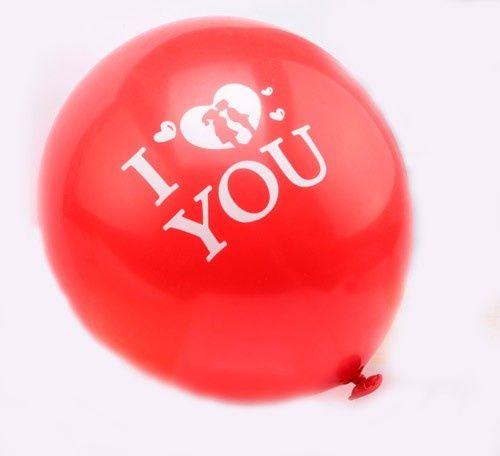 Balony czerwone I Love You 100szt