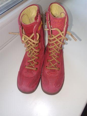 Сапоги ботинки натуральная замша