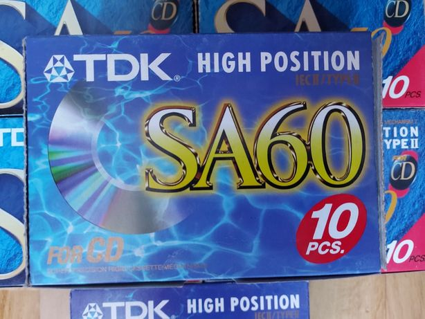 TDK SA 60 For CD, 10 szt., nowe, w pudełku