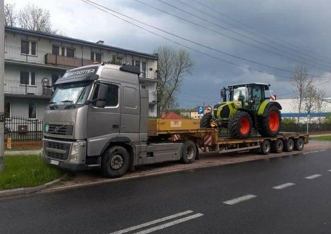 Transport kombajnu maszyn rolniczych i budowlanych niskopodwoziowe
