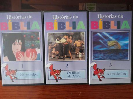 Cassetes VHS da Bíblia