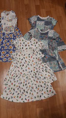 Платья для двойни лето 3-4 года