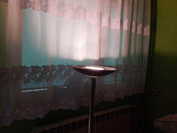 Lampa stojąca podłogowa mosiądz złota