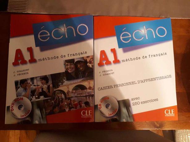 Sprzedam podręcznik i ćwiczeniówkę do jęz. francuskiego Echo poziom A1