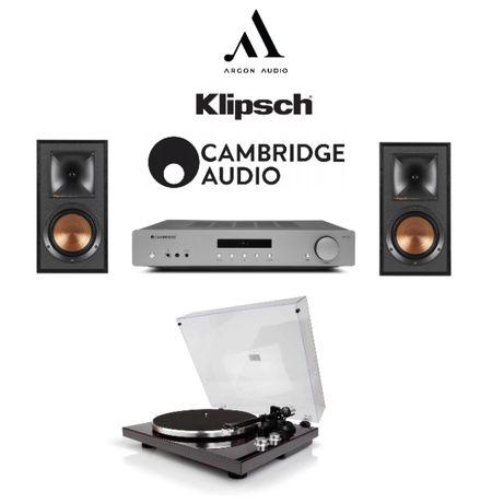 Kolumny Klipsch R-51M Cambridge Audio AXA35 Argon Audio TT1 Gramofon