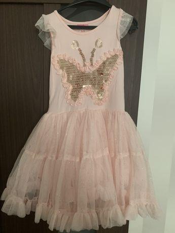 Детское нарядное платье нежно-розового цвета
