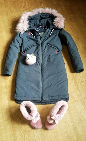 Парка, пуховик, зимова куртка + угги в подарунок.