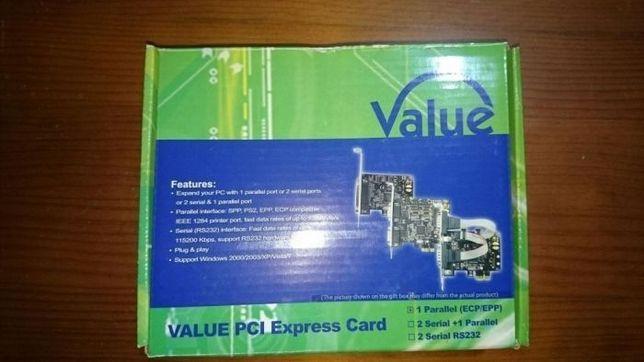 Placa Paralela ECP/EPP PCI Express - NOVA na caixa