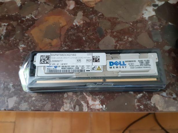 DELL Pamięć RAM, DDR2 16GB 667MHz, 2x8GB, PC2-5300, ECC