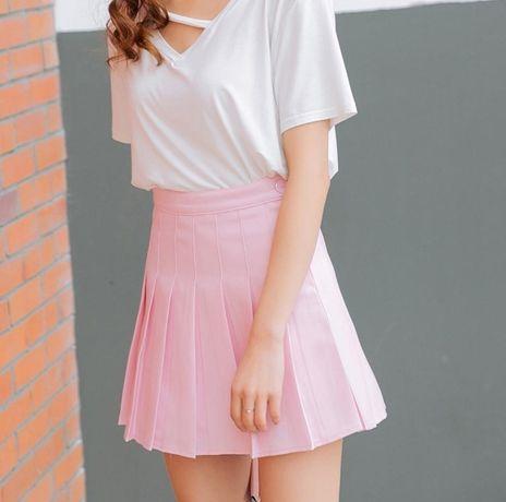 Милая юбка в корейском стиле, теннисная юбка, аниме мода