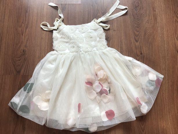 Продаётся нарядное платье с лепестками Valenza (110 см на 5 лет)