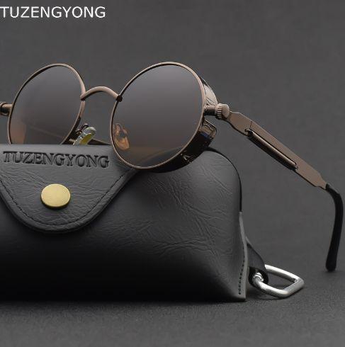 Солнцезащитные круглые винтажные очки в стиле стимпанк steampunk Смела - изображение 1