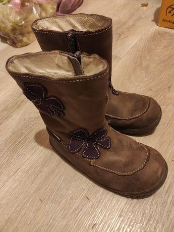 Кожа ботинки осень-зима как Ecco