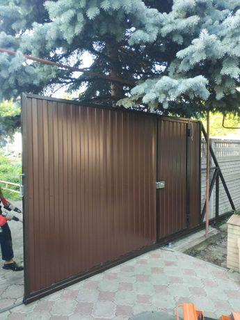 Купить Ворота  в Донецке. Откатные, Роллетные ворота Донецк, Макеевка.