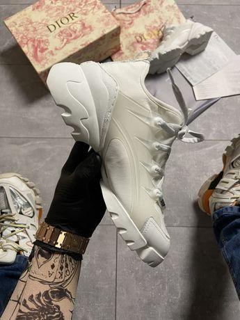 Кроссовки Dior D-Connect Triple White   кросівки Женские диор