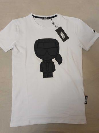 NOWA koszulka Karl Lagerfeld M t-shirt ikonik piękny na prezent