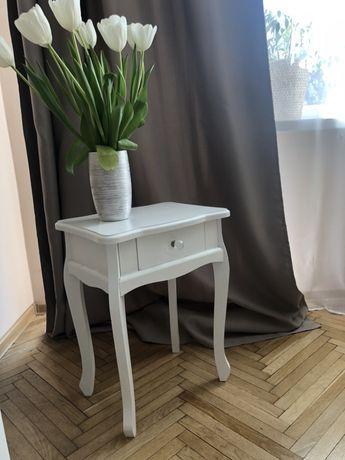 Szafka stoliki 2 biały glamour biała do łóżka szafki salonu nowoczesna