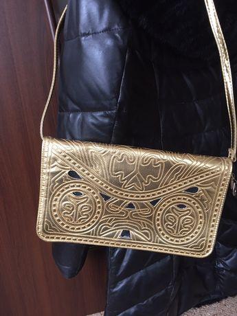 Золотая клатч,сумка золото