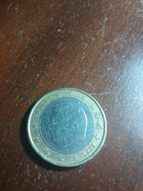 Moeda de 1 euro belgica 1999