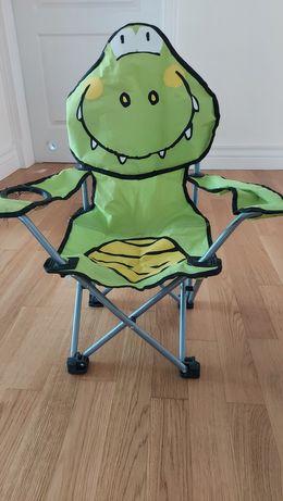 Krzesełko turystyczne składane dziecięce Krokodyl