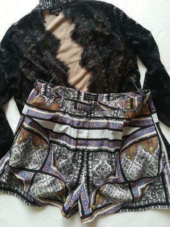 Topshop шорты женские размер 42 tile scarf print