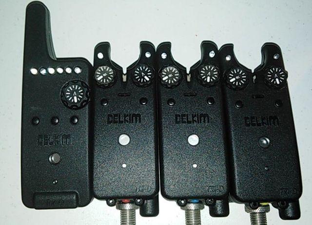 Sygnalizatory DELKIM TXI-D. Set 3+1 RED/BLUE/YELLOW