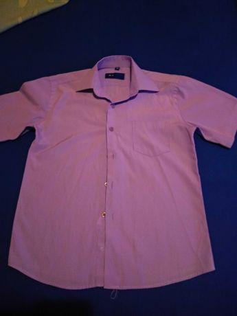 Рубашка на мальчика 7-9 лет с коротким рукавом