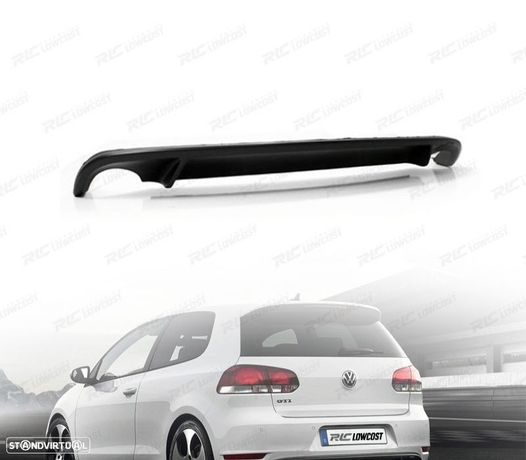 DIFUSOR PÁRA-CHOQUES TRASEIRO LOOK GTI GTD VW GOLF 6 MK VI 08-12