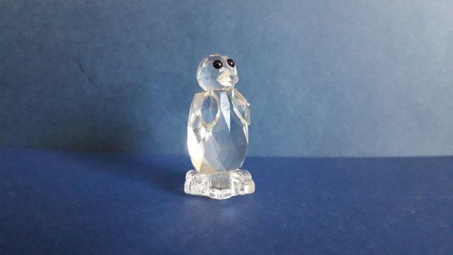 Pinguin em cristal, marca CA, tipo Swarovski