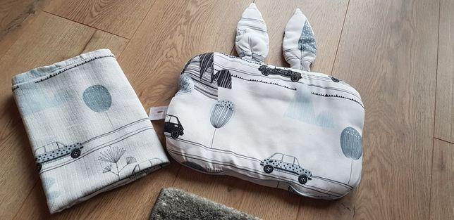 SAMIBOO LULLALOVE komplet maluszek poduszka otulacz szczotka do włosów
