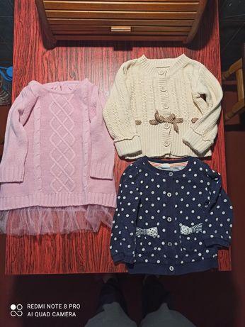 Цена за всё 9-12мес,Кофточки,туника-платье на девочку