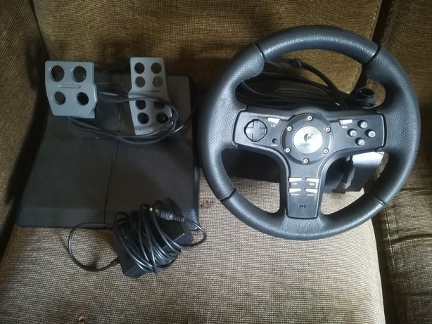 Volante Logitech force feedback Driving Force EX  Ps2 e Ps3