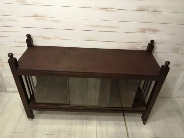 Komoda szafka drewno przedwojenna na kółkach loft