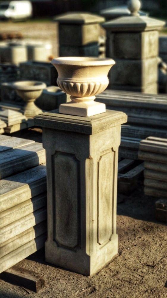 бетонная ваза для сада
