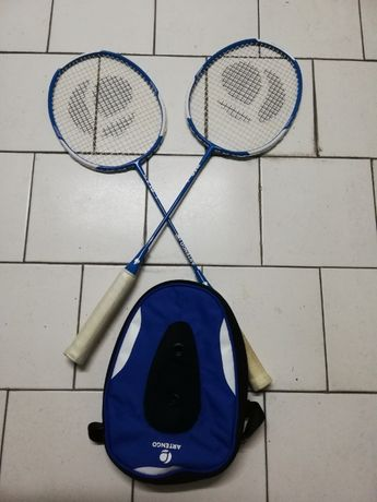 Raquetes de Badminton Adulto 1 Par ARTENGO Originais com Bolsa