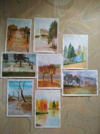 Рисунки, академические работы, этюды природы, живопись.