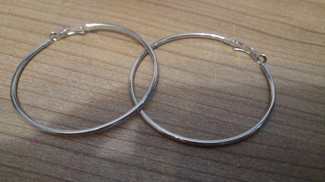 Kolczyki damskie koła kółka duże średnica 6 cm NOWE
