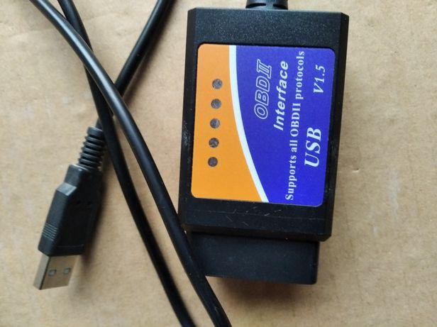 Шнур ЮСБ USB ELM 327 для считывания и удаления ошибок автомобилей