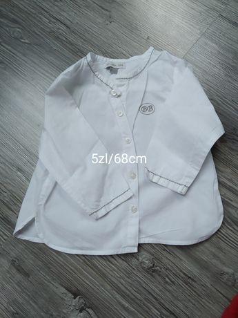 Koszula chłopięca biała na chrzest