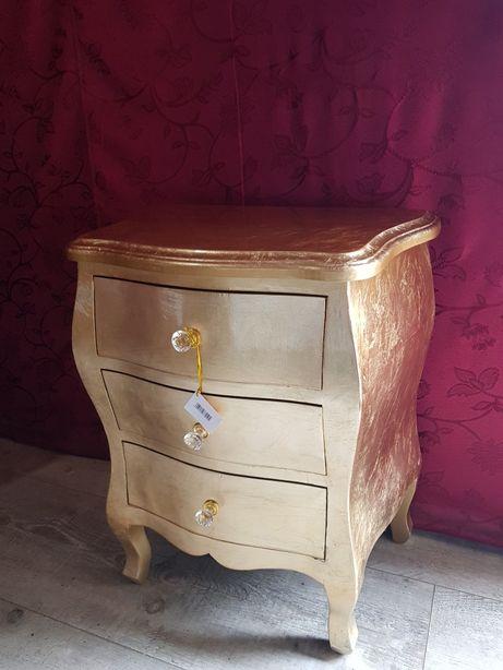 Złota komoda szafka kryształki 77210