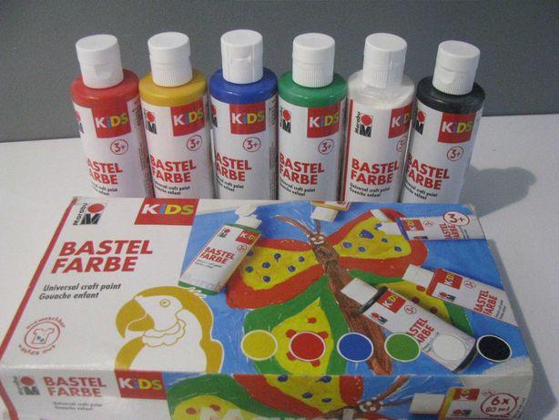 Nowe farby rzemieślnicze dla dzieci Marabu 6x80ml