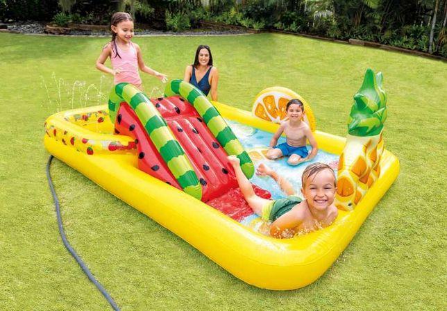 WODNY Plac zabaw dla dzieci XXL z fontanną, zjeżdżalnią + PIŁKI