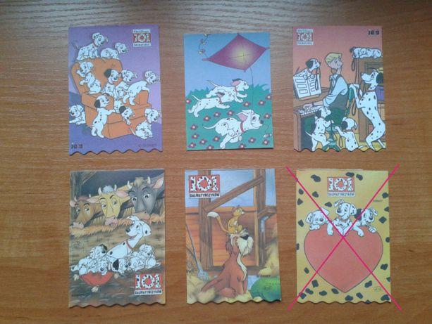 Karteczki z notesików Król Lew Dalmatyńczyki Disney Alladyn lata 90