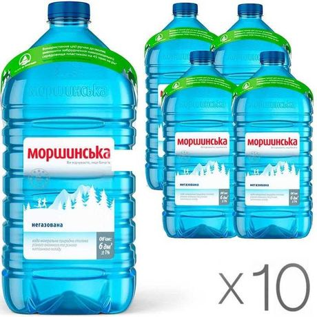 Пластиковые  баклажки  ПЭТ 6 л из-под воды Моршинска