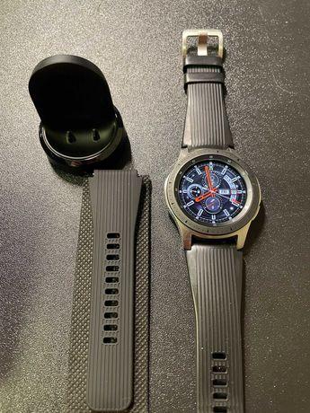 Smartwatch Galaxy Watch 46mm, na gwarancji z lutego 2021, pełny zestaw