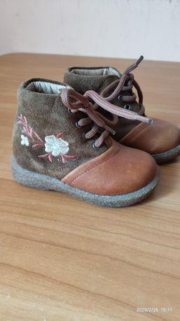 Шкіряні  черевички /ботінки для дівчинки 20розмір