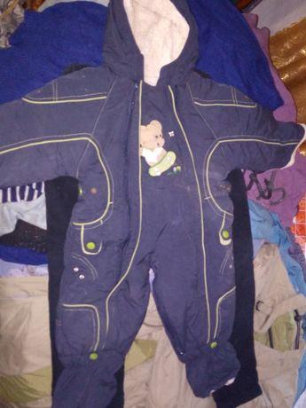 Детский комбинезон, штаны на подтяжках.